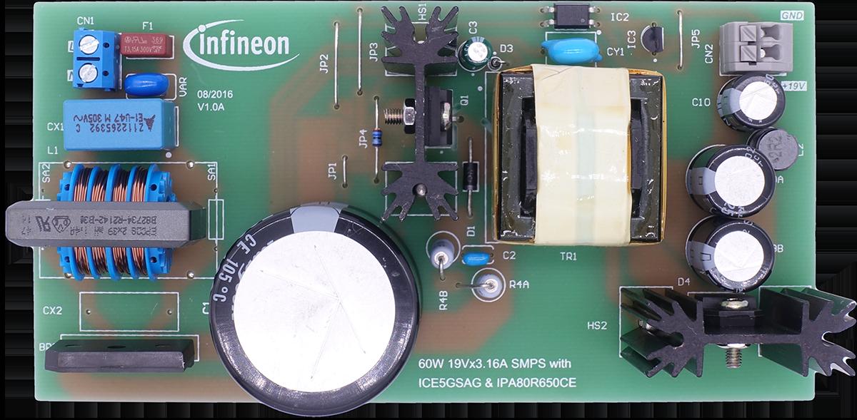 DEMO5GSAG60W1 Quasi Resonant CoolSET Infineon