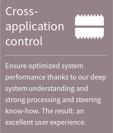banner, cross application control
