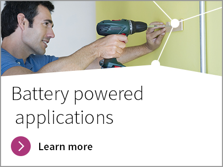 Battery powered applications banner