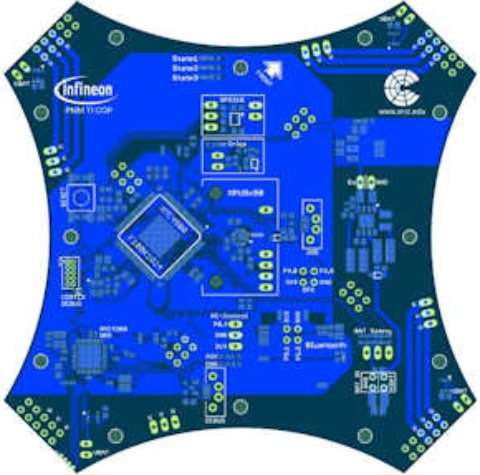 Evaluation Boards KIT_XMCI45_LARIX_PINU_1 XMC4500 multicopter demoboard