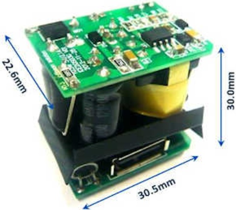 Evaluation Board REF-10W ADAPTER: 10W 5V Mini USB Adapter Reference Board