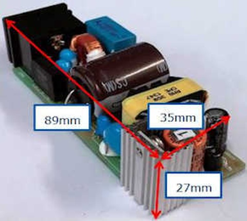 Evaluation Board REF-35W ADAPTER: 35W Brick Adapter Reference Board