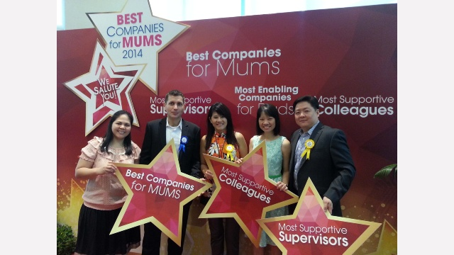 "We have been awarded with the ""Best Companies for Mums"" Award"