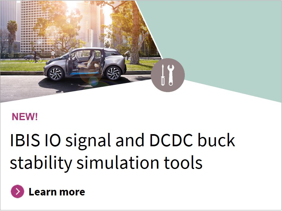 IBIS IO signal and DCDC buck stability simulation tools