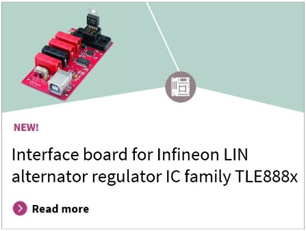 Interface board LIN alternator regulator IC family TLE888x