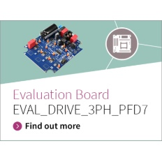 Infineon Banner Evaluation Board EVAL_DRIVE_3PH_PFD7