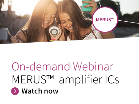 Infineon banner MERUS™ class D audio amplifier solutions Webinar