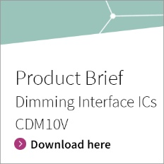 Infineon Button Product Brief Dimming Interface ICs CDM10V