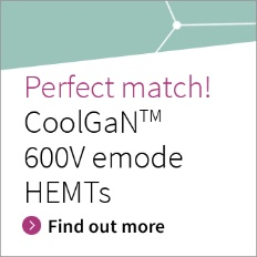 Infjneon's Gallium nitride GaN EiceDRIVER™ gate driver ICs match perfectly with CoolGaN™ 600V e-mode HEMTs