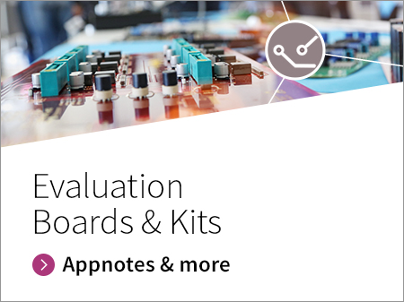 Promotion banner for Evaluation boards and kits