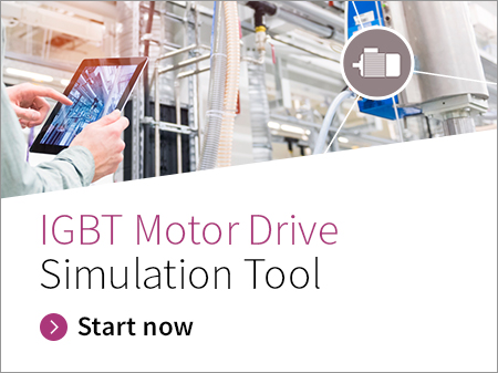 Discrete IGBT Motor Drive Simulator - A three-phase motor drive inverter system is implemented to simulate the power loss and junction temperature of each device at the given static load conditions.