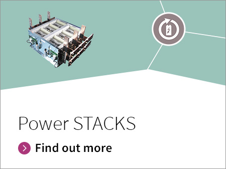For high power applications we offer a stack portfolio which includes modules- and discs -Assemblies