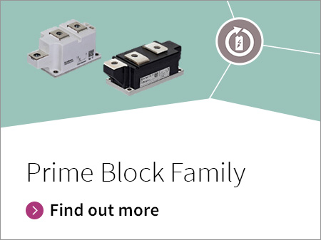 For highest performance or when the desired current exceeds 600 A for 60 mm footprint and paralleling of modules is not an option, we have designed the Prime Line modules with best-in-class power density reaching 820 A in standard 60 mm housing.