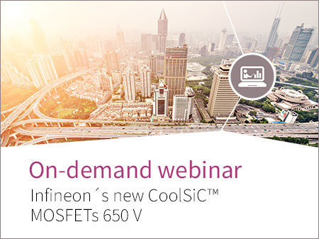 Webinar banner for CoolSiC MOSFETs 650V
