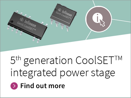 CoolSET™ integrated power stage generation 5