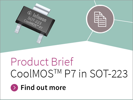 Infineon banner of product brief CoolMOS P7 in SOT 223 pdf