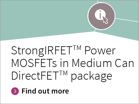 Infineon banner Strong IRFET Power MOSFET Medium Can Direct Fet package