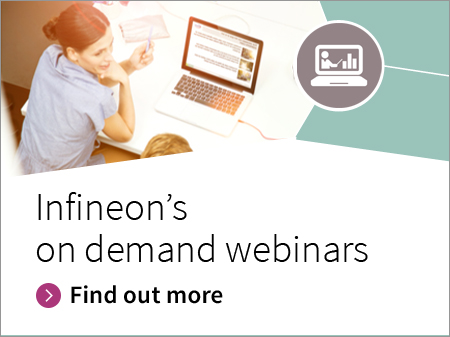 Infineon banner on demand webminars