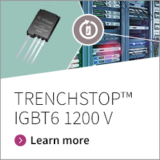 The 1200 V IGBT generation TRENCHSTOP™ IGBT 6 is released in 2 product families – low conduction losses optimized S6 series and improved switching losses H6 series.