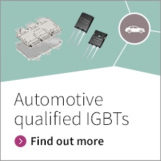 The automotive qualifed IGBT solutions in Discretes support the designer's efforts in hybrid and electric mobility.