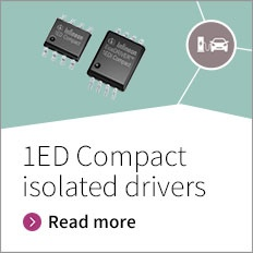 EiceDRIVER™ 1ED Compact -  Infineon's new EiceDRIVER™ 1EDC Compact 300 mil family is recognized under UL 1577 with an insulation test voltage of VISO = 2500 V(rms) for 1 min. The functional isolated EiceDRIVER™ 1EDI Compact 150 mil and 300 mil families are also available. Infineon provides wide body package option for increased creepage distance, improved thermal behavior, and optimized pin out.