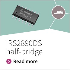 IRS2890DS the latest addition to high voltage IC gate driver portfolio -  The IRS2890DS is the latest addition to Infineon's leading high voltage IC gate driver portfolio. Key features include Over-current protection (OCP) with a  /-5% reference