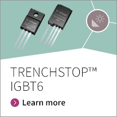 The TRENCHSTOP™ IGBT6 is the next generation IGBT technology optimized for specific application – either low speed 650 V small motor drives for major home appliance or fast speed 1200 V IGBT for solar, welding , UPS. Each product series target optimal performance of the IGBT in target application.