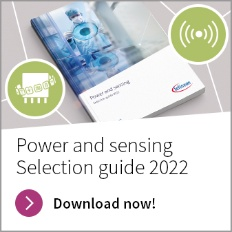 Infineon button photo Power and Sensing selection guide