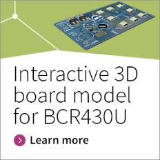 Infineon button interactive 3D model for BCR430U board