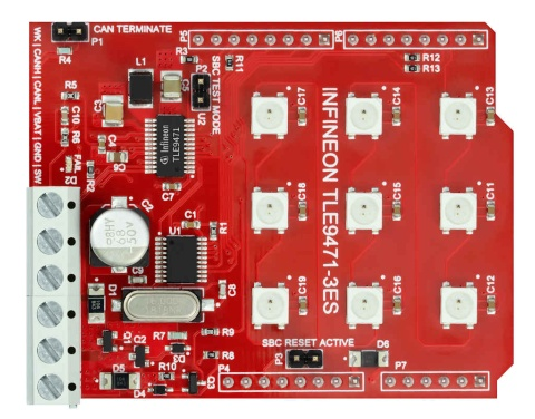 Lite DCDC SBC Shield for Arduino with TLE9471-3ES
