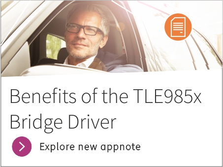 Benefits of the TLE985x bridge driver