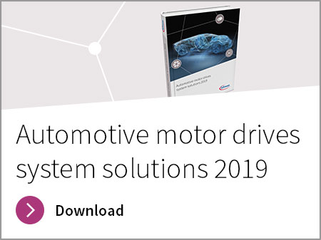 "Infineon´s free eBook ""Automotive motor drives system solutions 2019"""