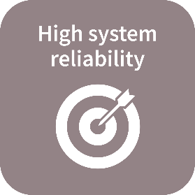 High system reliability