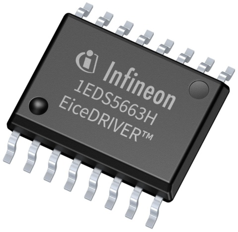 Infineon gallium nitride GaN EiceDRIVER™ gate driver IC 1EDS5663H in DSO-16 package