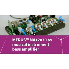 Button MERUS™ MA12070 musical instrument board amplifier