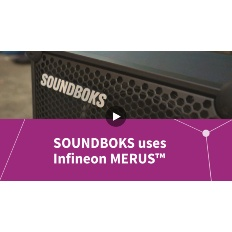 Infineon Button SOUNDBOKS uses MERUS™