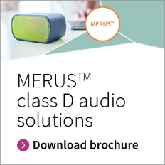 Infineon MERUS class D audio solutions brochure