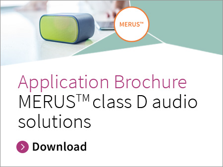 Infineon banner application brochure MERUS™ class D audio solutions