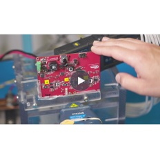 Button Infineon Video CoolGaN 3-phase motor control video