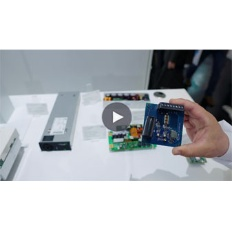 Infineon Button CoolGAN Telecom PCIM 2019 Video