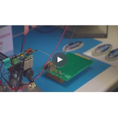 Infineon Button CoolGaN wireless charging Video