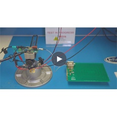 Infineon CoolGaN wireless charging chinese video