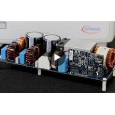 Infineon CoolGaN 2500 watt full-bridge PFC evaluation board video