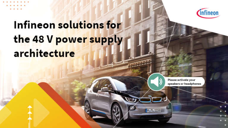Infineon solutions for the 48-volt power supply architecture of dual supply ECUs
