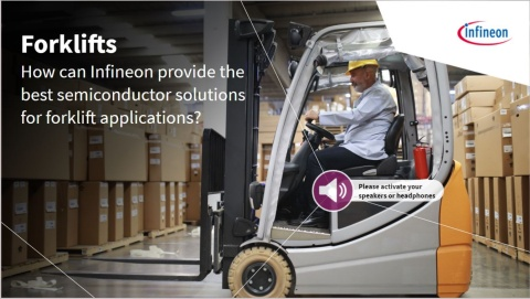 Forklifts: Intralogistics solutions with Infineon's components