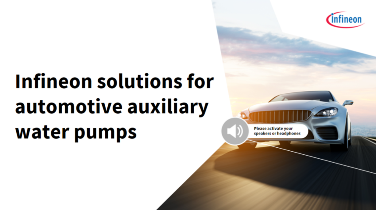 Infineon solutions for automotive auxiliary water pumps auxiliary water pumps