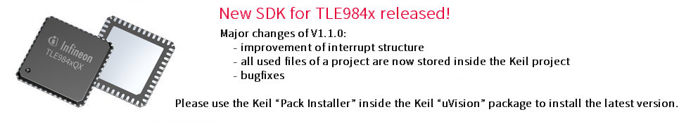 New SDK for TLE984x released!