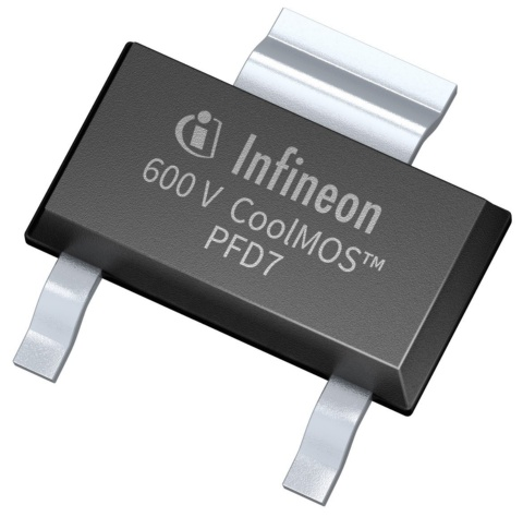Infineon package picture CoolMOS™ PFD7 SOT223 package