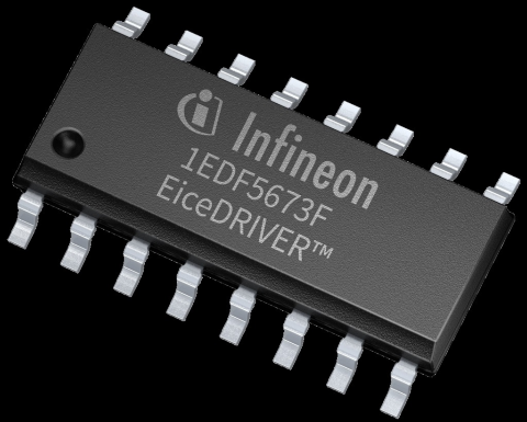 Infineon gallium nitride GaN EiceDRIVER™ gate driver IC 1EDF5673F in DSO-16 package