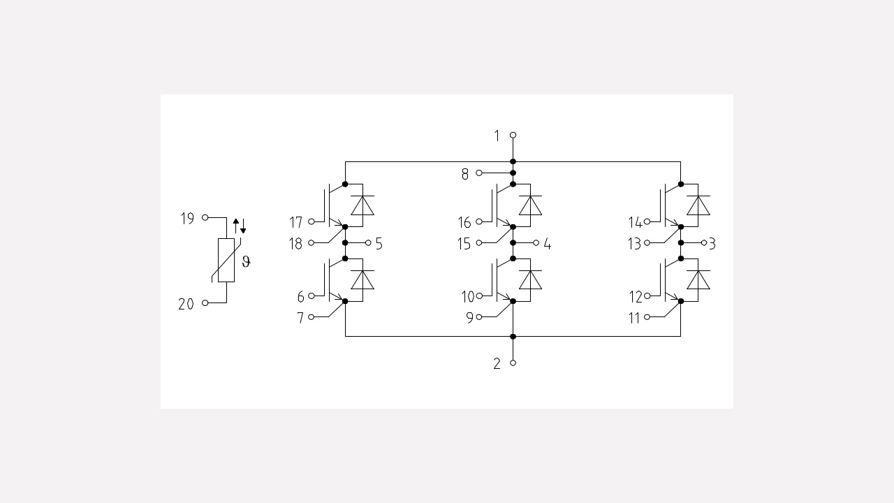 [CSDW_4250]   FS200R12PT4 | 1200 V, 200 A sixpack IGBT module - Infineon Technologies | Igbt Module Schematic |  | Infineon Technologies